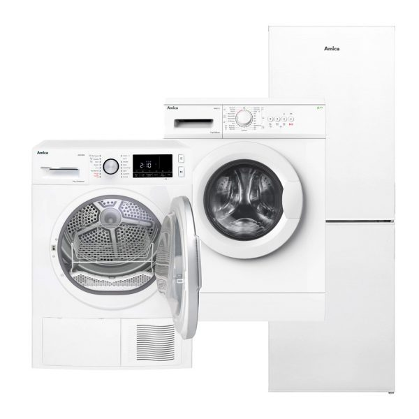 Amica tumble dryer washing machine fridge freezer appliances.