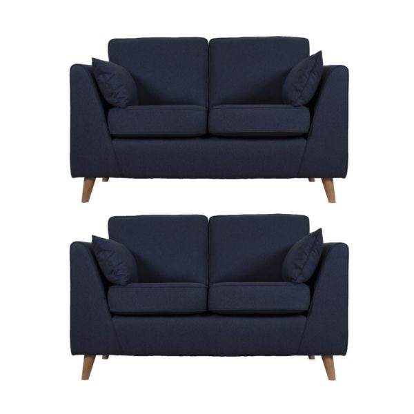 Suffolk 2 x 2 seater sofa set in blue