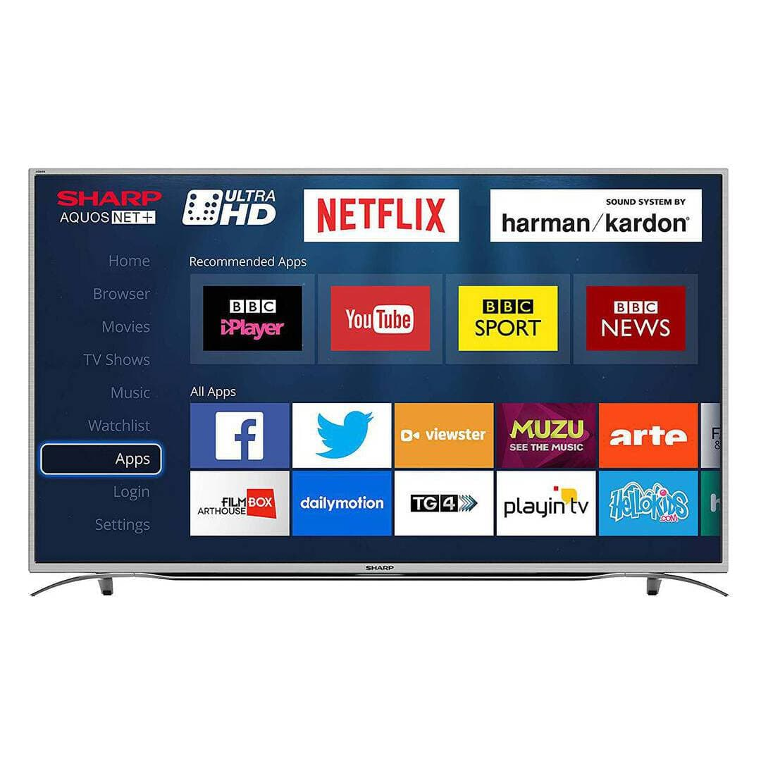 Sharp LC55CUG8052K 55 Inch 4K Smart Ultra HD TV with Freeview