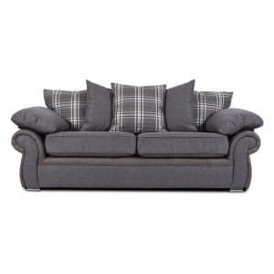Sorrento 3 Seater Grey Sofa